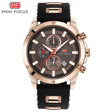 Mini Focus Stainless Steel Bracelet Silicone Strap Chronograph Watches TW032-MF0089G