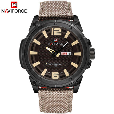 NAVIFORCE Brand Luxury Men Fashion Casual Watches Mens Quartz Date Wrist watch  TW027-NF9066BYGY
