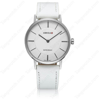 AMICA 2017 Stainless Steel Case Leather Band JAPAN Quartz Fashion Women Watch TW015-2455-2