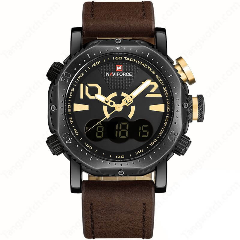 wrist chron com pu amazon quartz strap watch dp dial leather men decorative watches brown white movement s
