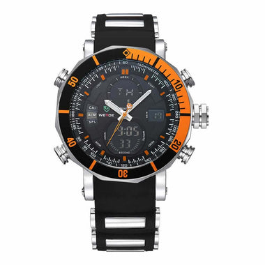 WEIDE Watch Diver Water Resistant Silicon Watch Brand Watch TW001-WH5203-12C