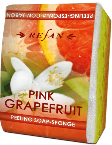 Peeling sæbe svamp natur Pink Grape