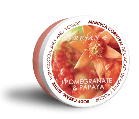 Body creme butter Granatæble og Papaya, parabenfri, 200ml.
