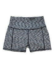 Load image into Gallery viewer, Calcao High Waist Shorts With Pocket - Silver/Grey Savoy Active