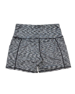 Calcao High Waist Shorts With Pocket - Silver/Grey Savoy Active