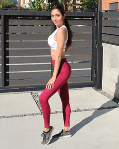 Ketana Seamless Legging - Burgundy Savoy Active