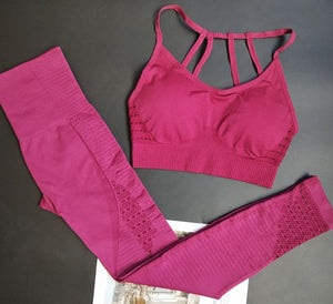 Ketana Seamless Sports Bra With Cutouts in Burgundy Savoy Active