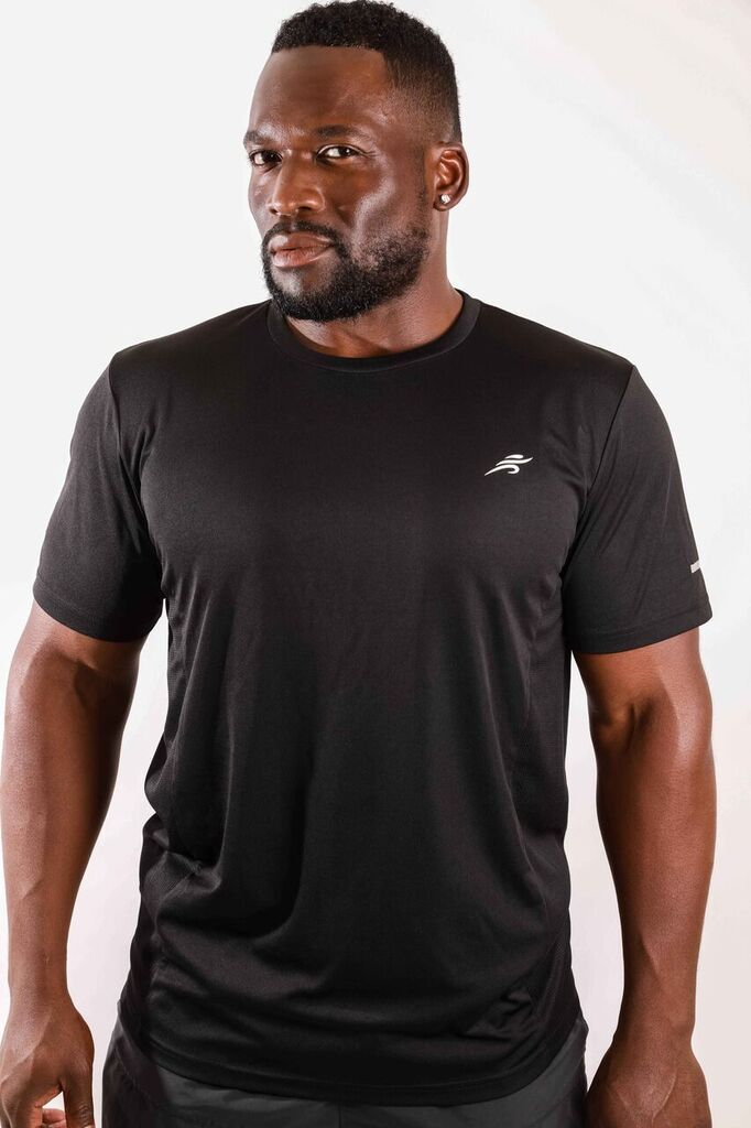 Short Sleeve Shirt - Black Savoy Active