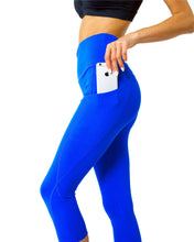 Load image into Gallery viewer, Sky Blue High Waisted Capri Leggings Savoy Active