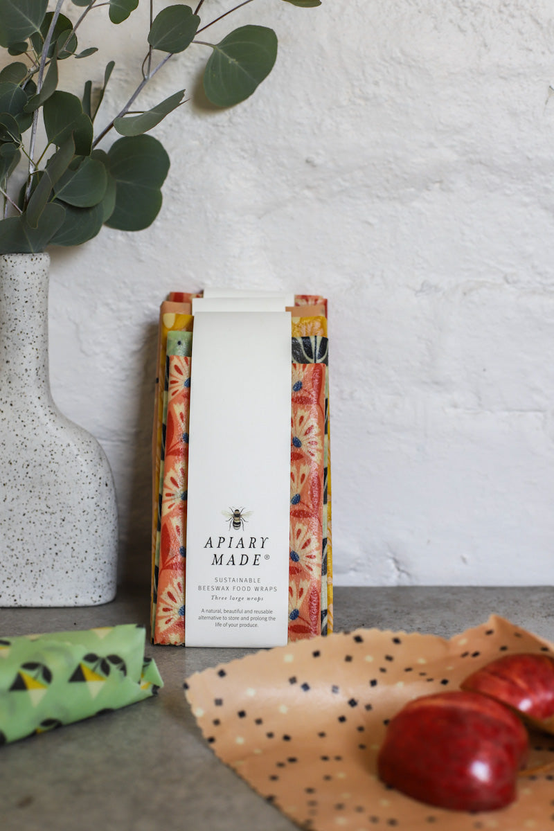 Scent'sation | APIARY MADE Three Large Beeswax Wrap Pack - TWYG