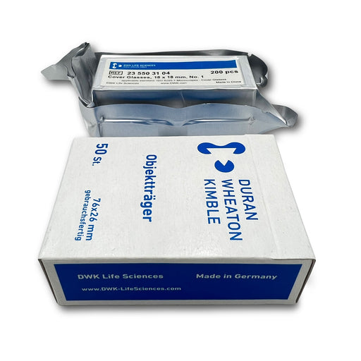 Duran Glass Blank Microscope Slides