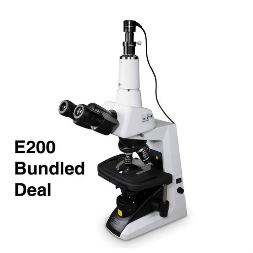 Nikon Eclipse E-200 Trinocular Microscope Bundle