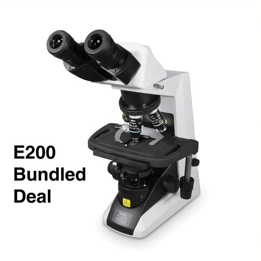 Nikon Eclipse E-200 Binocular Microscope Bundle