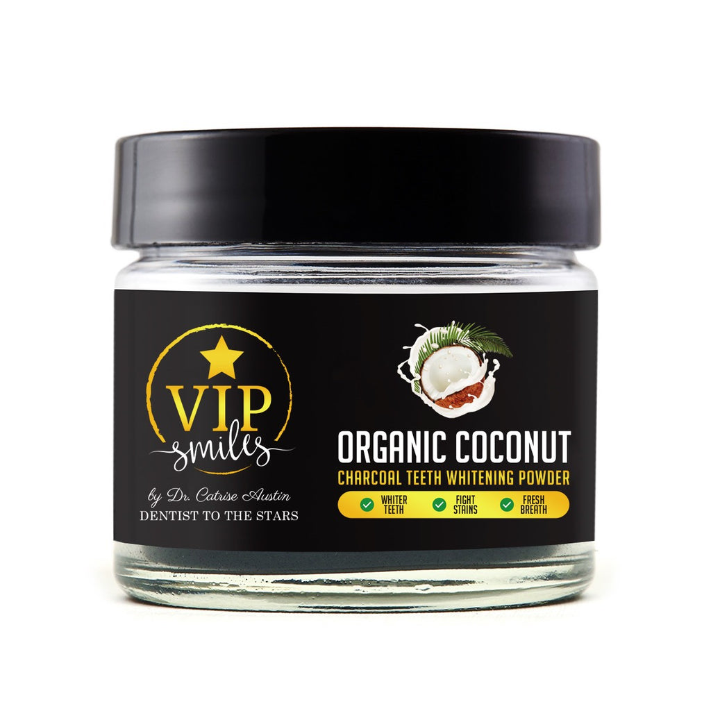 Organic Coconut Charcoal Teeth Whitening Powder