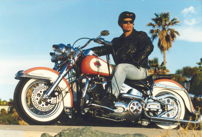 Greg Montoya on Harley