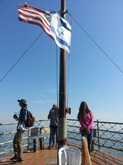 Hannah Montoya Sailing the Sea of Galilee