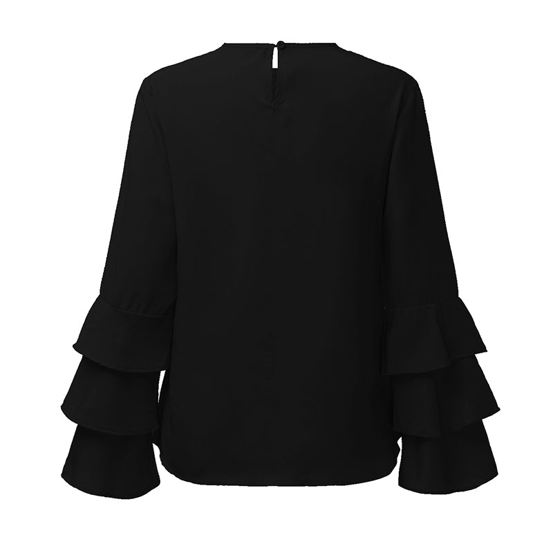 Gothic O-Neck Blouse