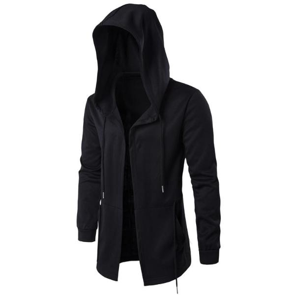 Black Hooded Cardigan