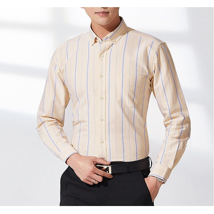 Pologize™ Classic Striped Oxford Dress Shirt