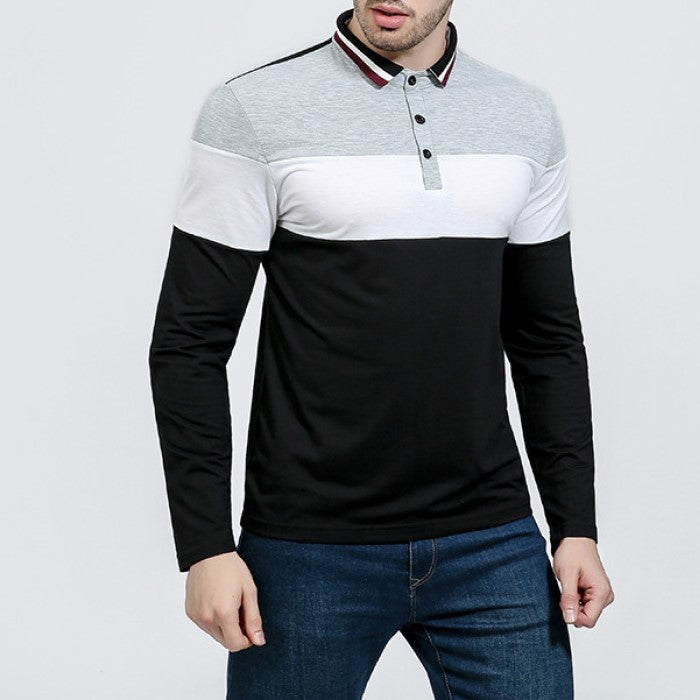 Pologize™ Stripe Long-Sleeve Polo Shirt