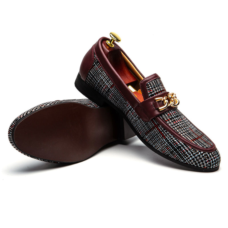 Pologize™ Elegant Checkered Loafers