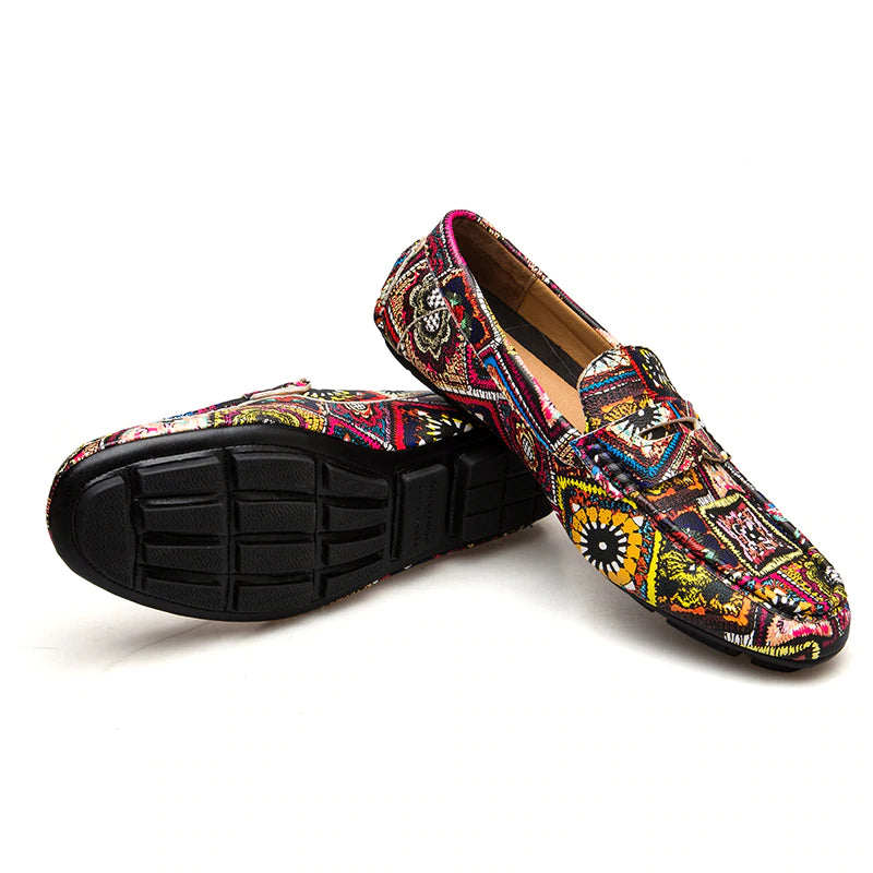 Pologize™ Loafers With African Pattern