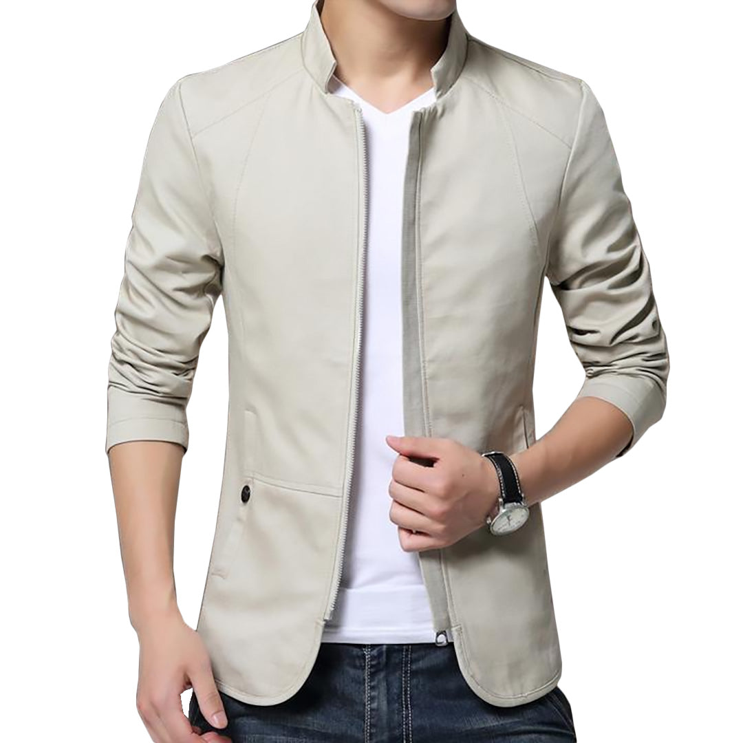 Pologize™ British Style Solid Casual Jacket