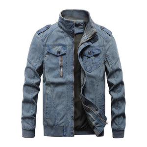 Pologize™ Durante Military Denim Jacket