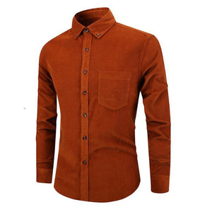 Pologize™ Single Breasted Corduroy Shirt