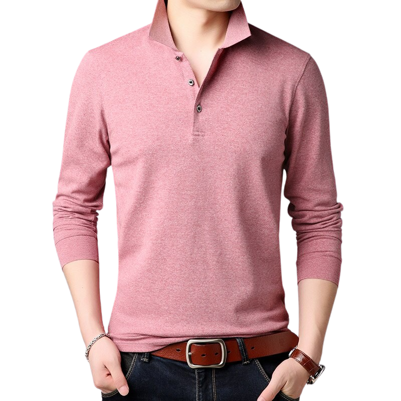 Pologize™ Solid Long Sleeve Polo Shirt