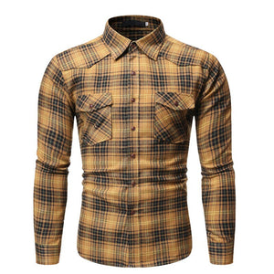 Pologize™ Checkered Long Sleeve Button Shirt