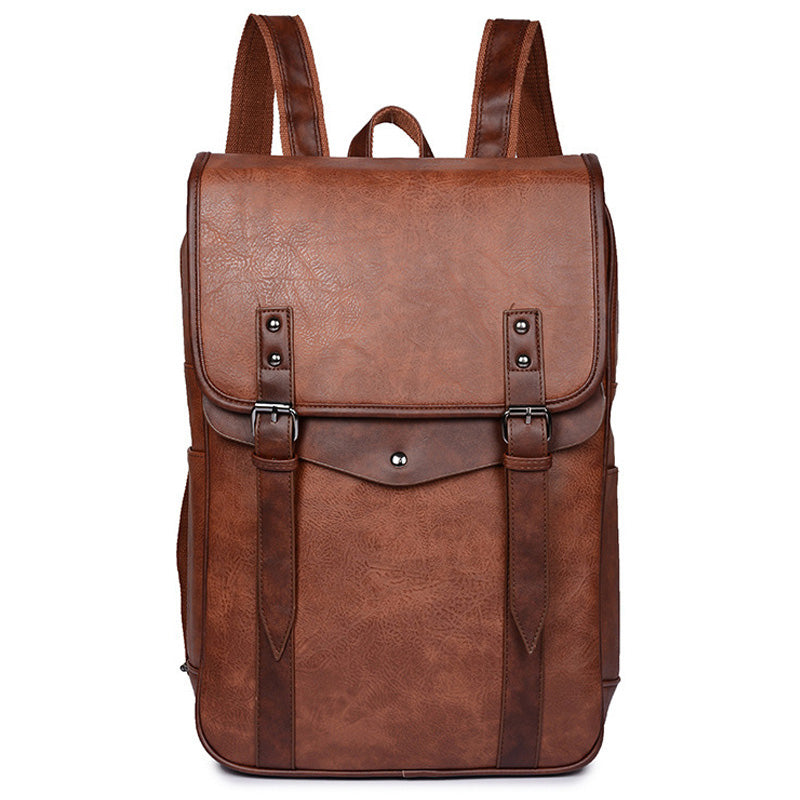 Pologize™ Vintage PU Leather Backpack