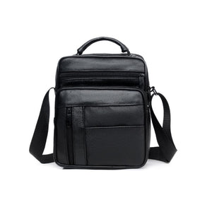 Pologize™ Leather Black Crossbody Bag