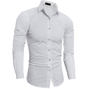 Pologize™ Plain Slim Fit Button Shirt