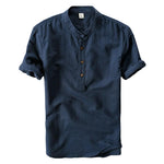 Pologize™ Short Sleeve Mandarin Collar Shirt