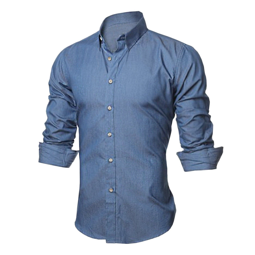 Pologize™ Soft Denim Button Shirt