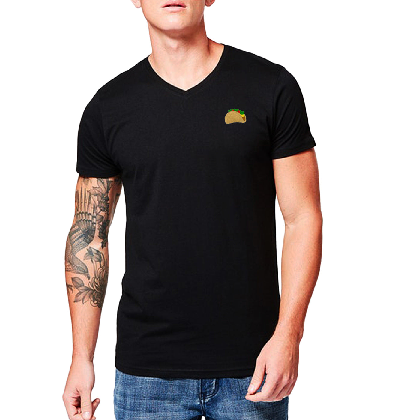 Pologize™ Taco Embroidered V-Neck T-Shirt