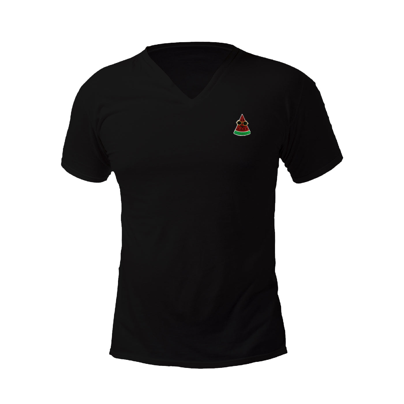 Pologize™ Watermelon Embroidered V-Neck T-Shirt