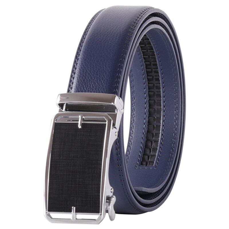 Pologize™ Automatic Black Buckle Leather Belt