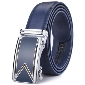 Pologize™ Automatic Blue Buckle Leather Belt