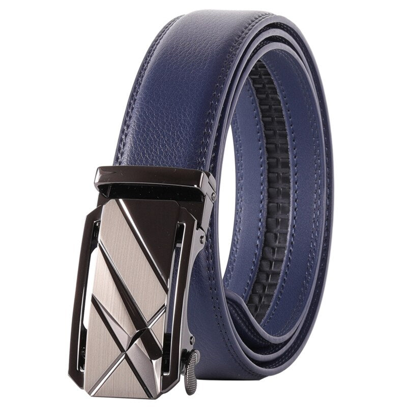 Pologize™ Automatic Metal Buckle Leather Belt