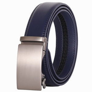 Pologize™ Automatic Bronze Buckle Leather Belt