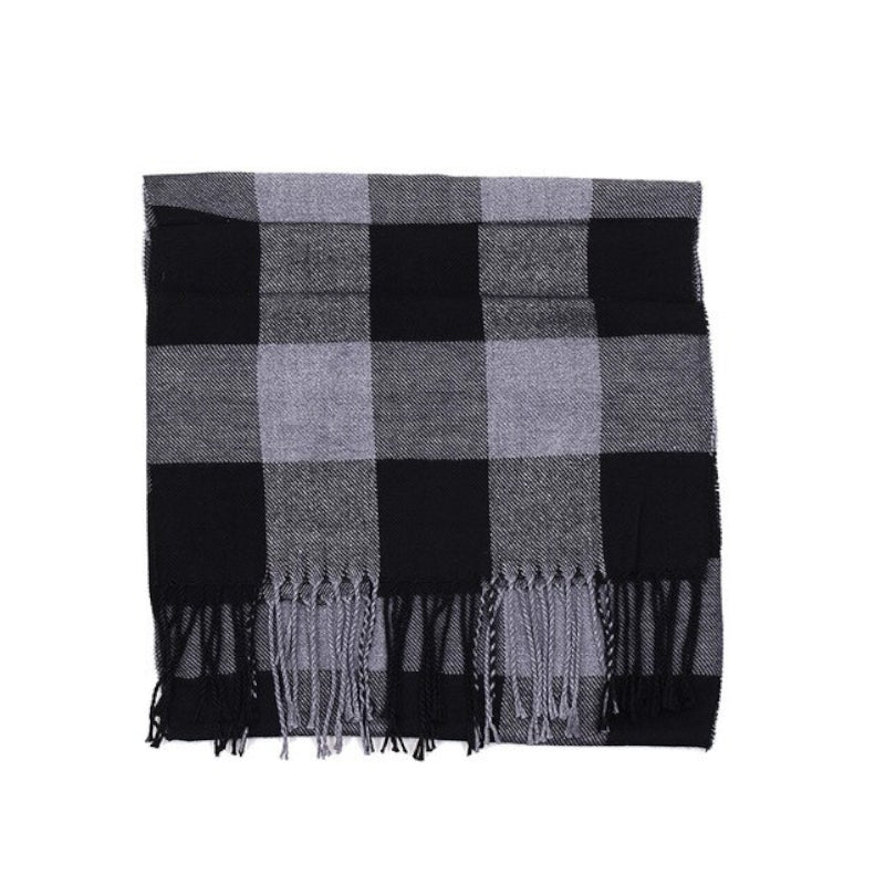 Pologize™ Warm Plaid Scarf