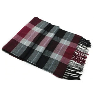 Pologize™ Casual Wool Plaid Scarf