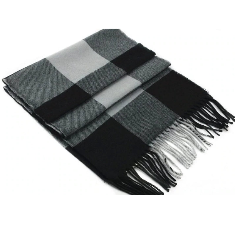 Pologize™ Elegant Wool Plaid Scarf