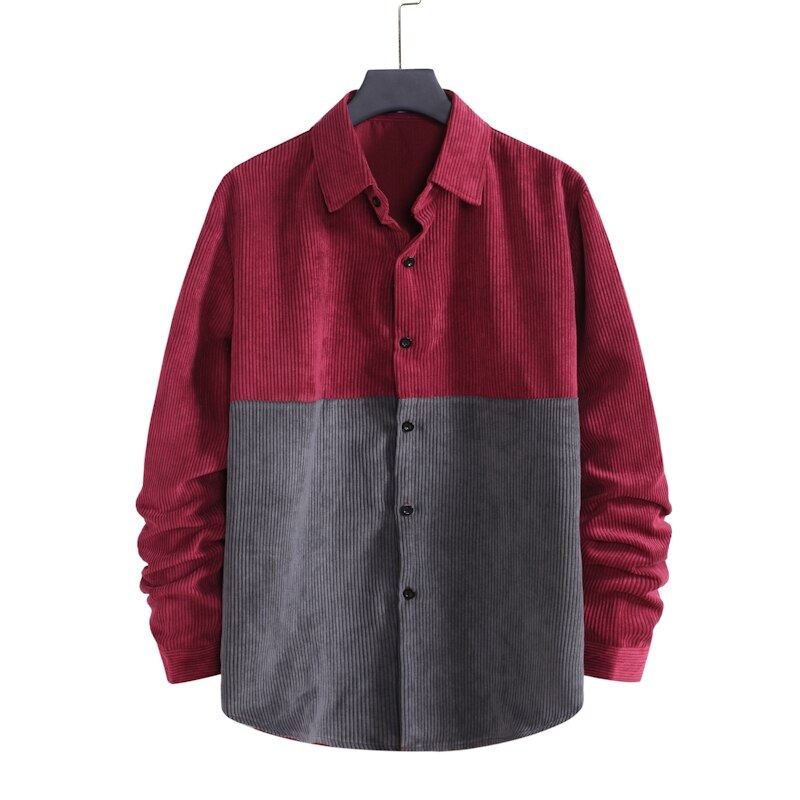 Pologize™ Contrasting Color Corduroy Button Shirt