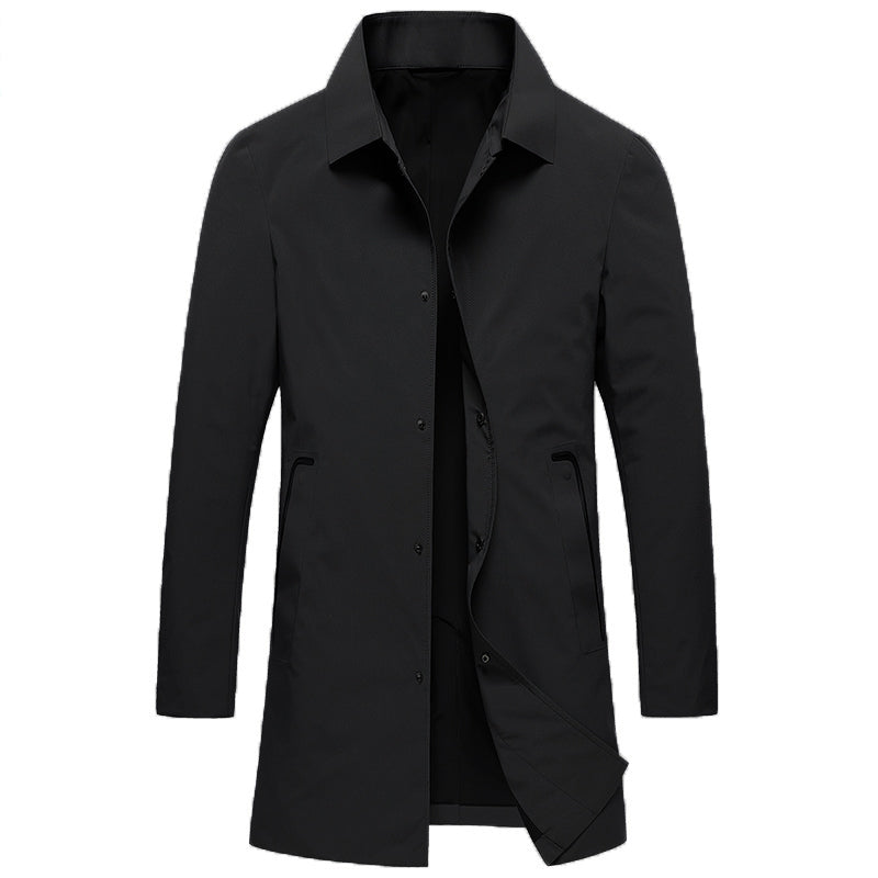 Pologize™ Mid-Length Suit Coat