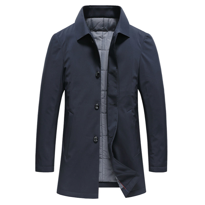 Pologize™ Mid-Length Button Up Jacket