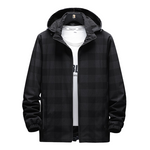 Pologize™ Hooded Plaid Jacket