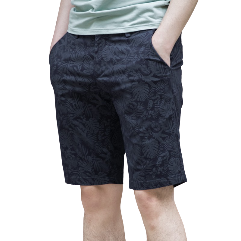 Pologize™ Leaf Patterned Elegant Shorts